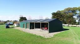Semi-enclosed farm storage