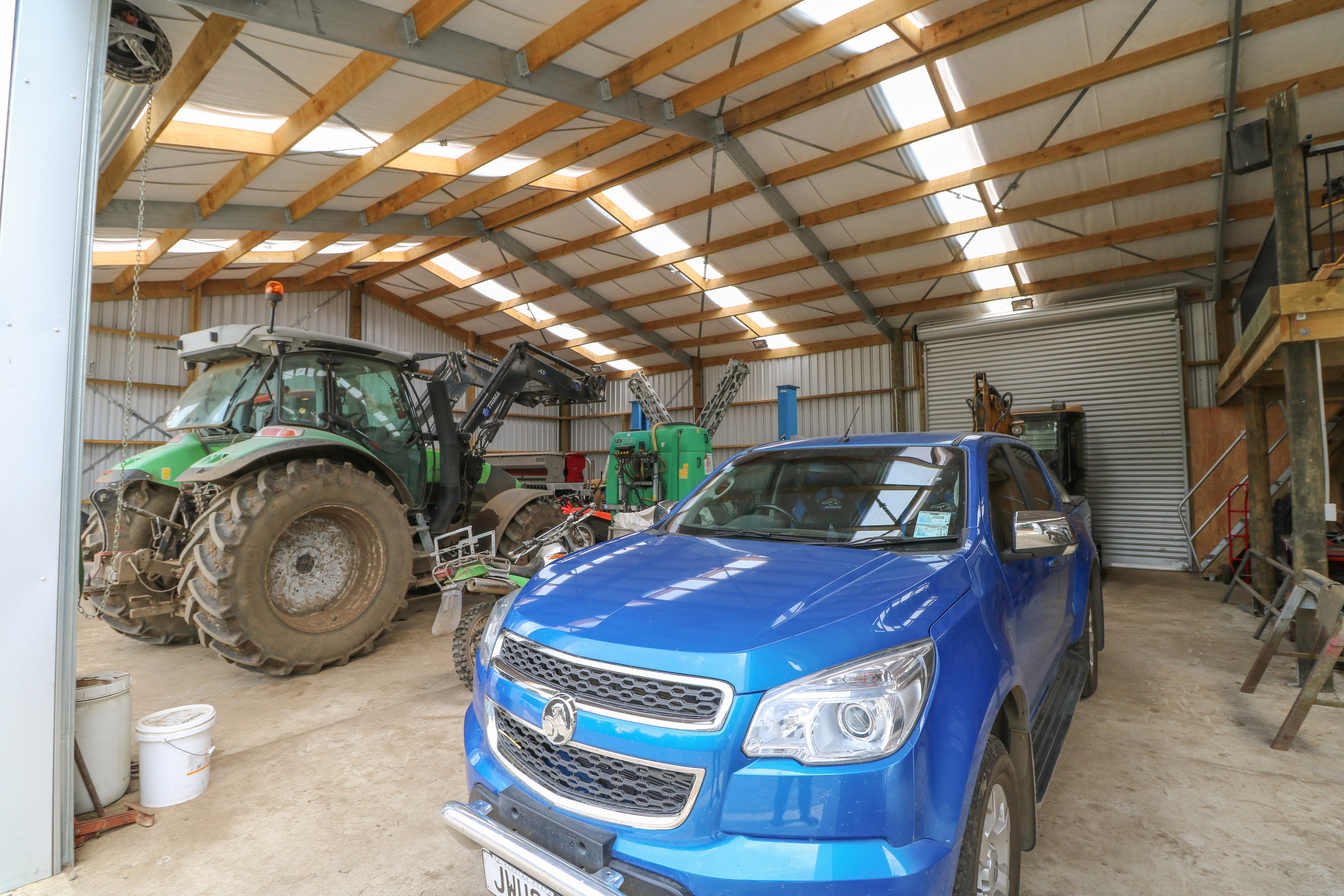 This lockup shed keeps expensive machinery and vehicles safe and secure