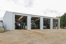 This implement shed has 4.8m bays!