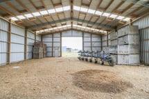 Bird-proof farm shed