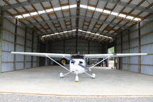 Airplane hangar with clearlight