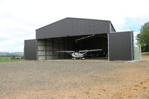 Airplane hanger made from coloursteel