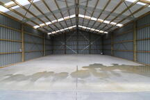 See the inside of an Alpine clearspan shed