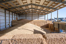 Hay shed with plenty of storage space
