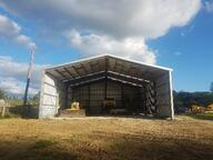 3 wall sheds for hay storage