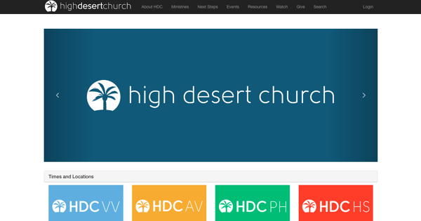 high desert church