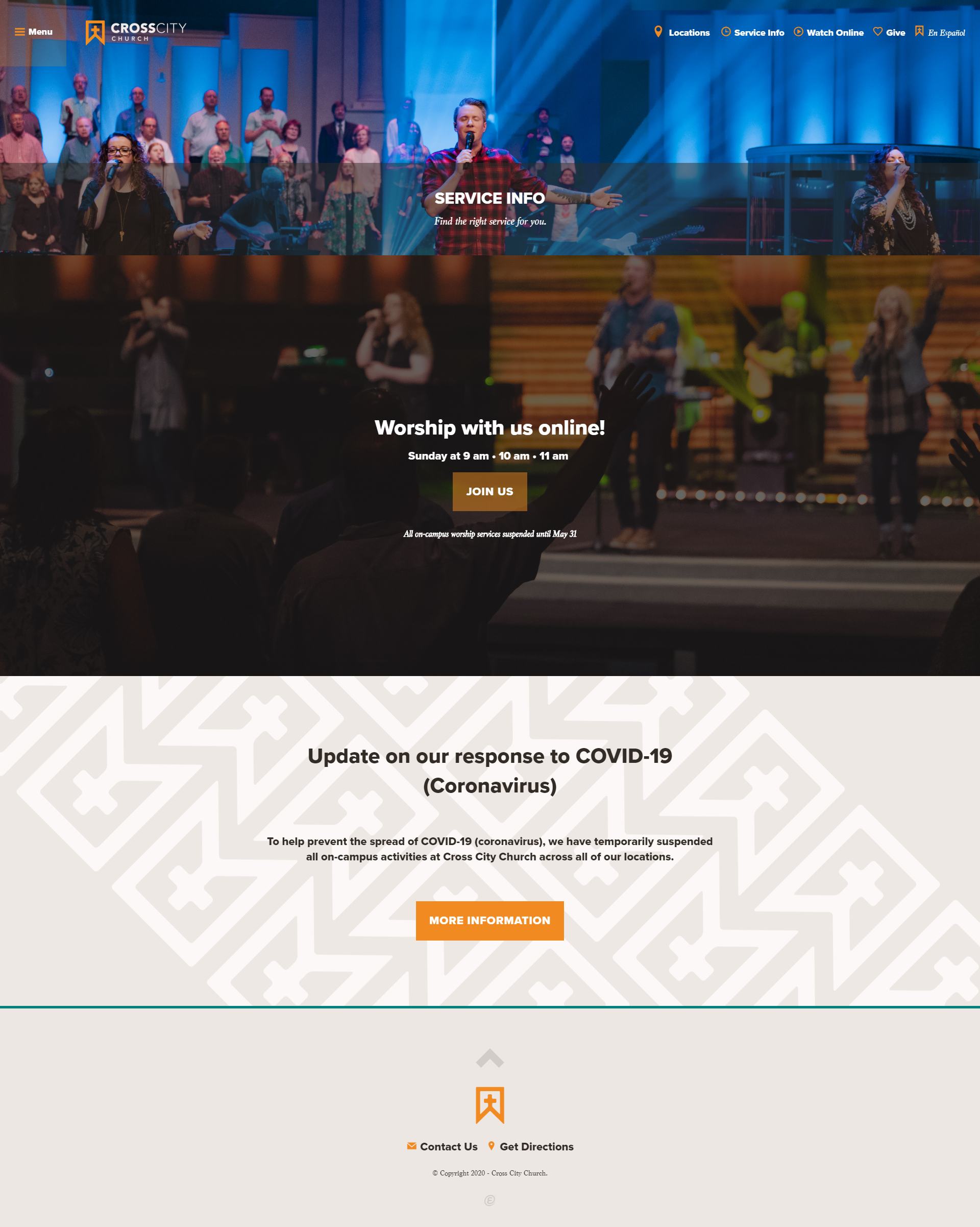 Cross City Church Services Page