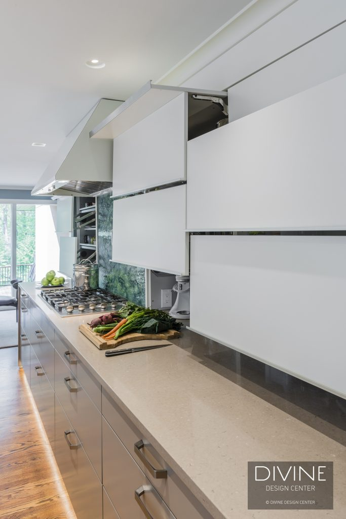 Modern Kitchen With A Full View Of Nature