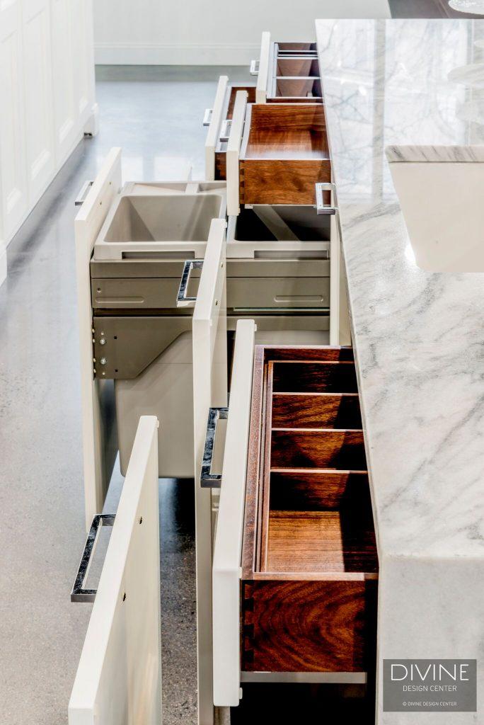 miles of storage in your kitchen island