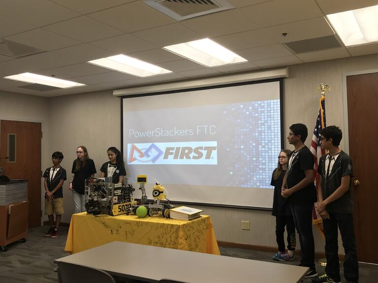 FTC World Finalists PowerStackers Visit UES