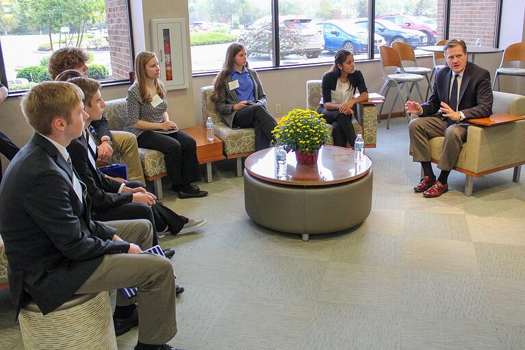 UES Hosts Carroll High School Students to Discuss AFRL Collaboration Project