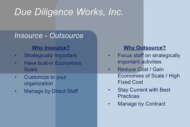 Insource or Outsource your Product Research or Due Diligence