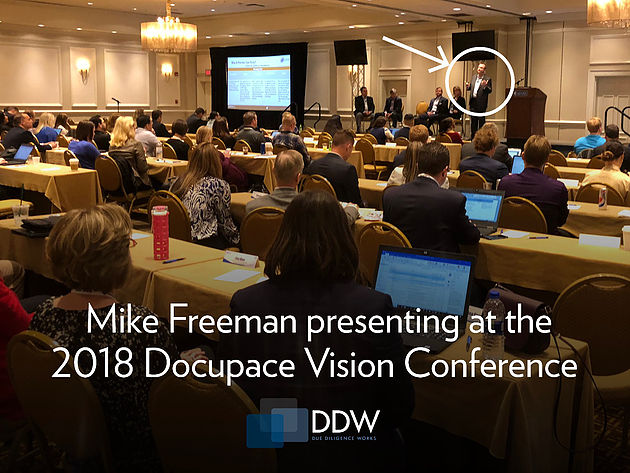 Mike Freeman presenting at the Docupace conference - April 2018