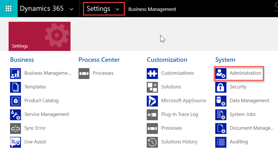 Simple Sales Forecasting - Microsoft Dynamics CRM - business management settings - demo