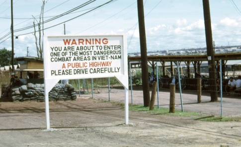 highway warning - crop