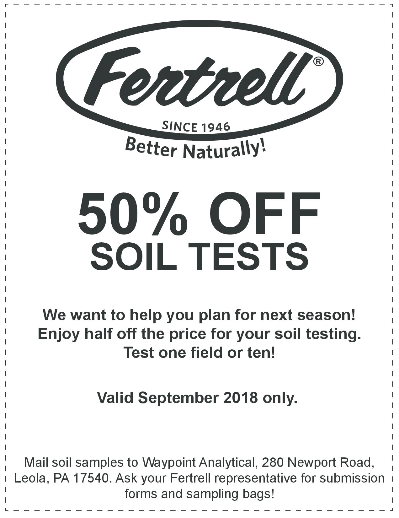50 off Soil Test