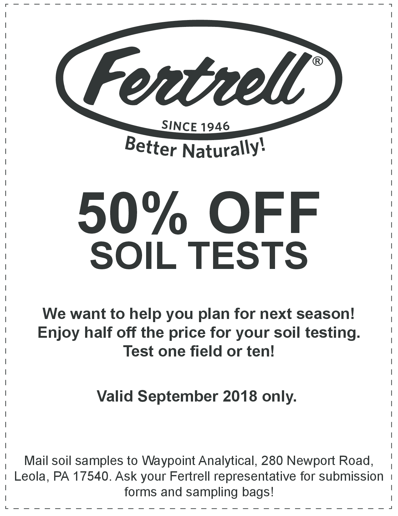 50 off Soil Test