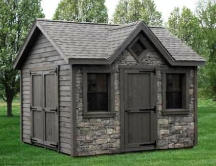 Unique custom built sheds turn your shed into a mini house for Outdoor mini shed