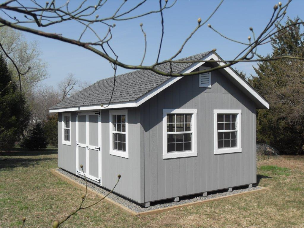 guide to get building a shed on unlevel concrete shed