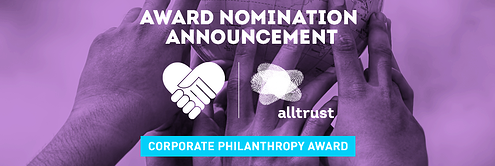 Alltrust Announced As Finalist for Corporate Philanthropy Award