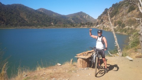 Gustavo's other passion - biking in the mountains.