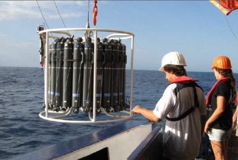 Ocean water depth sampling