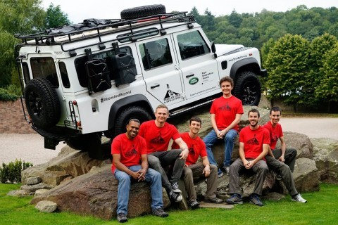The 'Trail by Fire' team (L-R): Dr. Philipson Bani, Dr. Ian Schipper, Aaron Curtis, Dr. Talfan Barnie, Dr. Nial Peters, and Dr. Yves Moussallam