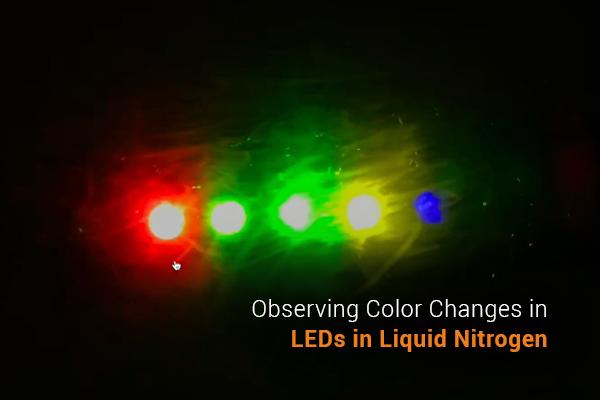 Observing Color Changes in LEDs in Liquid Nitrogen