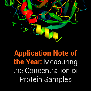 Application Note of the Year: Measuring the Concentration of Protein Samples