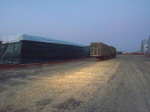 What is the best way to cover Hay?
