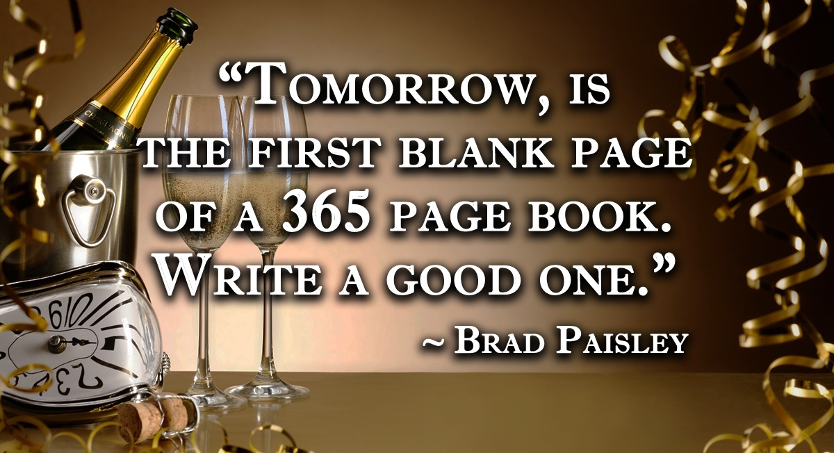 tomorrow is the first blank page of a 365 page book write a good