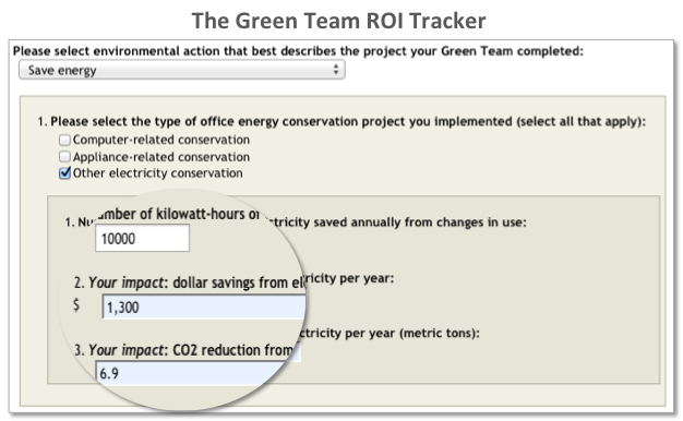 Green Team ROI Tracker Electricity