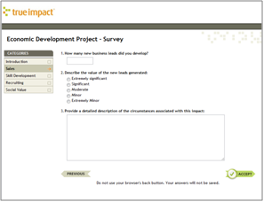 Impact Survey View