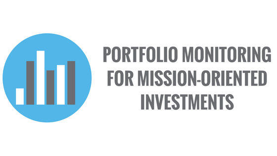portfolio monitoring for mission oriented investments