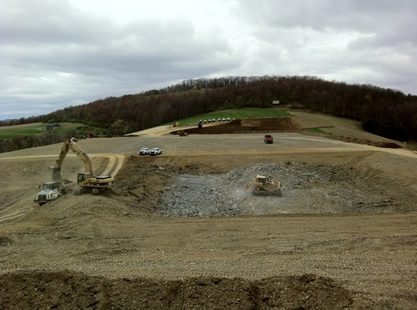 fracking pad site excavation