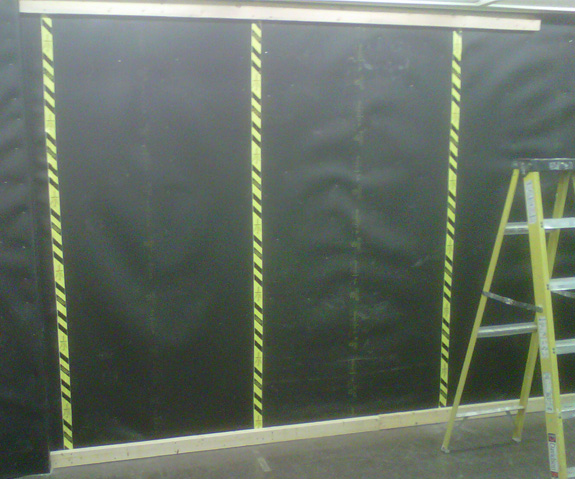 Acoustiblok Soundproofing Material installed in classroom