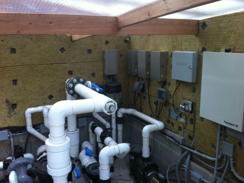Noise was effectively reduced by adding hydrophobic QuietFiber to a hot, humid, outdoor pool pump house.