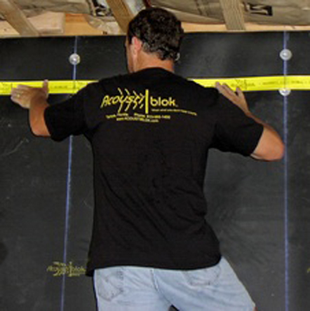 Installing Acoustiblok is easy when following correct procedures