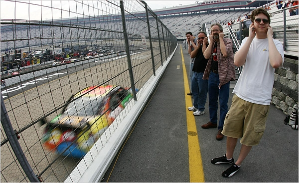 Nascar racing creates high noise levels
