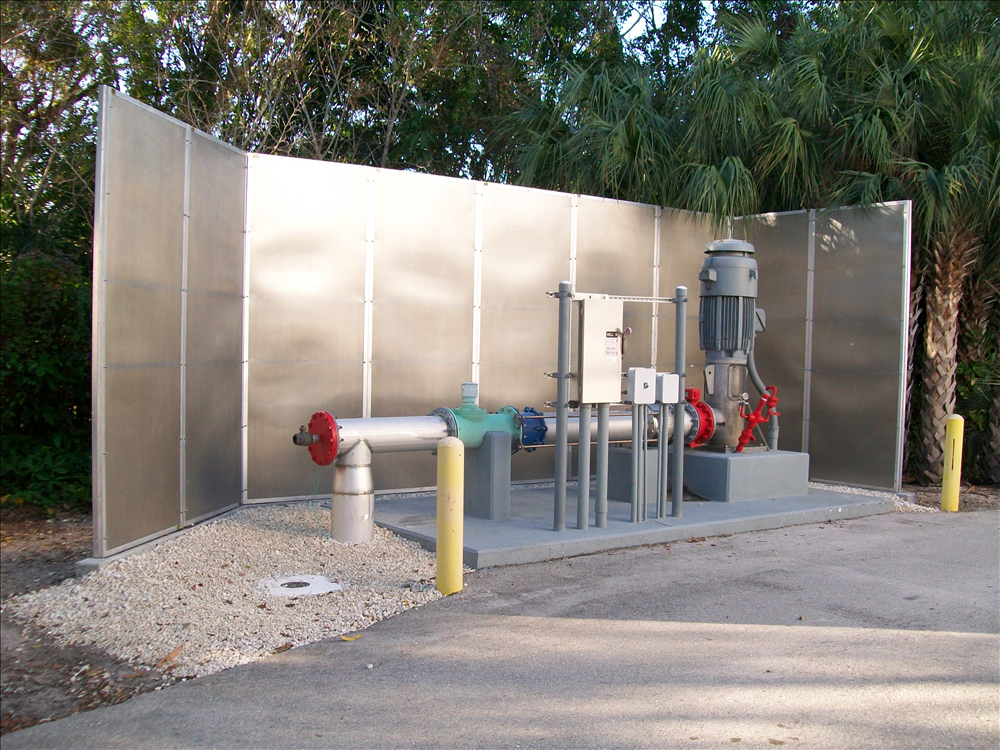 all weather sound panels dampen noise south florida water treatment