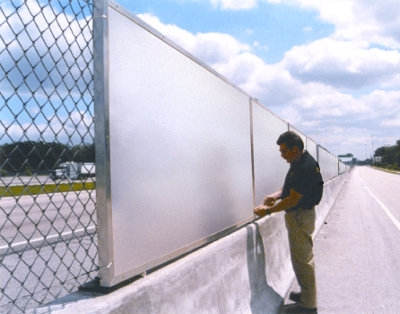 Highway sound barrier panels