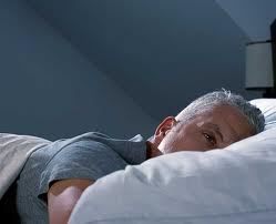 man can't sleep due to environmental noise