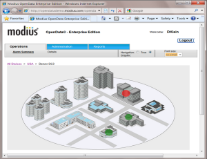 Multisite Data Center Monitoring by Modius OpenData