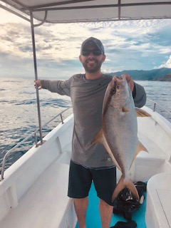 Steve with a morning catch in Costa Rica.