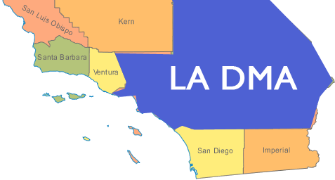 Reaching The Los Angeles DMA - Los angeles dma map