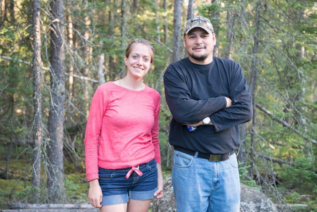 Human Environment Consultant, Leah Culver and  Darrell Settee, Pimicikamak knowledge holder