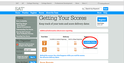What is my overall SATs score?