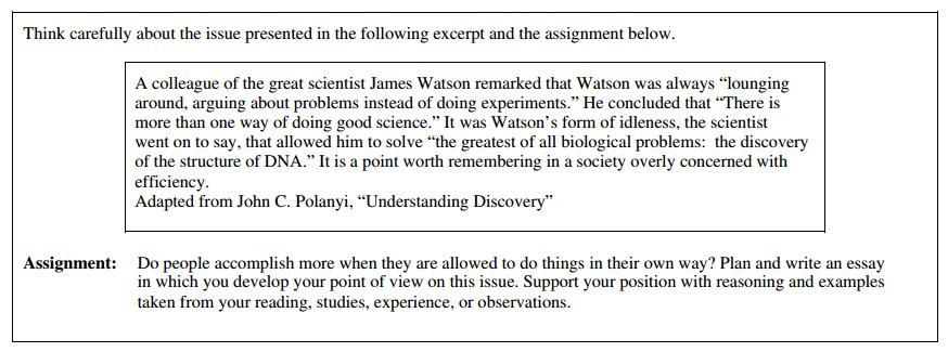 Sample sat essay questions 2007