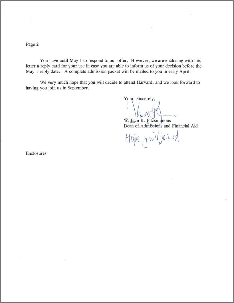 ... Acceptance Letter Like This For Yourself.  Body_harvardacceptanceletter1.png. Body_harvardacceptanceletter2.png