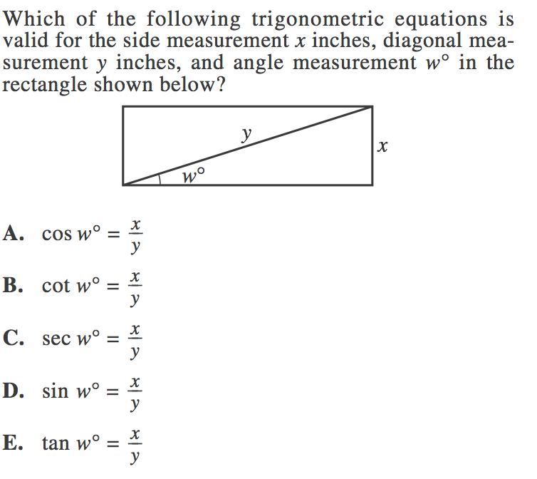 math worksheet : act math practice problems trigonometry  the best and most  : Act Math Worksheets